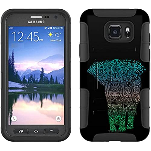 Samsung Galaxy S7 Active Armor Hybrid Case Fancy Elephant 2 Piece Case with Holster for Samsung Galaxy S7 Active Sales