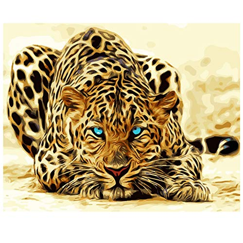 (5D Full Drill Diamond Painting Kit Leopard Diamond Painting Rhinestone Painting Kits for Adults and Children 30 x 40cm )