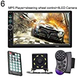 hAohAnwuyg Car MP5 Player,7 Inch Digital HD Multi-Touch Screen Radio Player Support Bluetooth USB Camera 6#