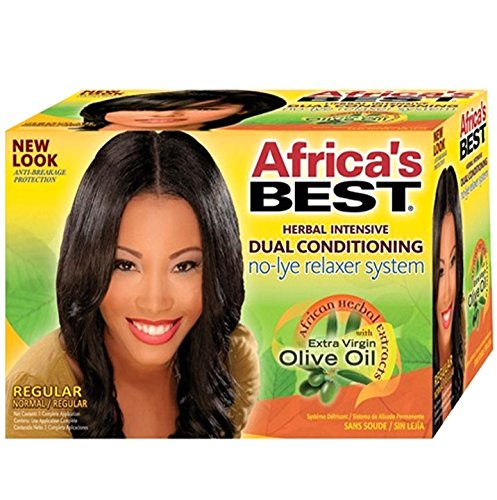 (No-lye Dual Conditioning RelAxer System By Africa's Best)