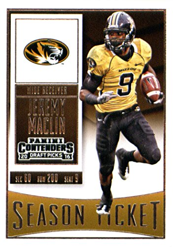 Jeremy Maclin Missouri - 2016 Panini Contenders Draft Picks #49 Jeremy Maclin Missouri Tigers Football Card in Protective Screwdown Display Case