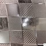 Pvc transparent scrub mat Crystal flooring Living room Tea table Floating window waterproof mat-B 105x105cm(41x41inch)