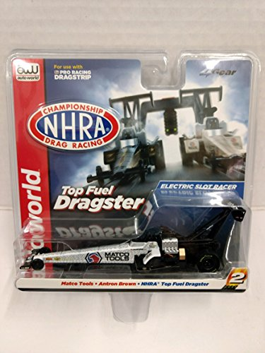 Scale Electric Slot Car - Auto World SC322 Matco Tools Antron Brown NHRA Top Fuel Dragster HO Scale Electric Slot Car