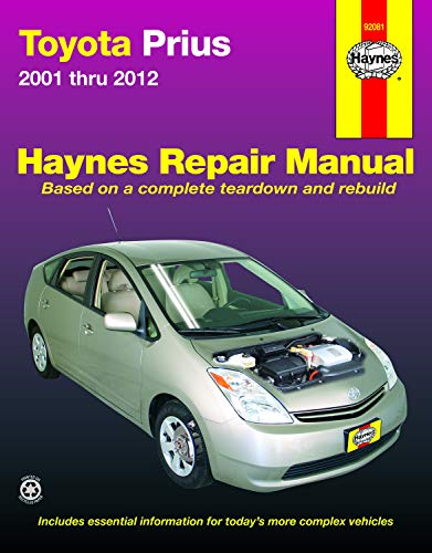 - Toyota Prius, '01-'12 Technical Repair Manual (Haynes Repair Manual)