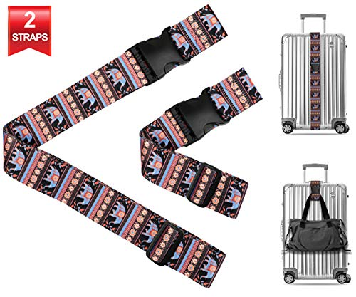 - Indian Elephant Travel Luggage Strap Suitcase Security Belt. Heavy Duty & Adjustable. Must Have Travel Accessories. TSA Compliant. 1 Luggage Strap & 1 Add A Bag Strap. 2-Piece Set.