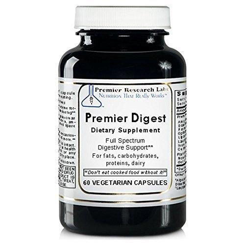 Premier Digest, 240 Caps / 4 bottles, Vegan Product - Vegan Sourced Enzymes By Premier Quantum Research Labs by Quantum / Premier Research