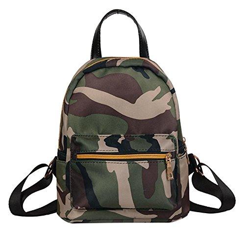 à Army Rucks école Sacs Femme Voyage à Filles à Sac Mini Canvas VHVCX Sac Oxford dos Sac dos Green étanche camouflage bandoulière Femmes à dos 1qHngwPU