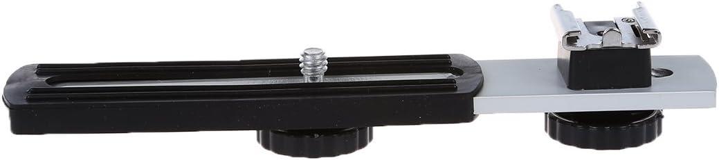 Universal 1//4 Sliding Screw Metal Flash Bracket for Digital Camera KeoKasu