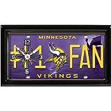 Minnesota Vikings NFL Football #1 Fan Team Logo License Plate made Clock