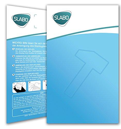 2 x Slabo PREMIUM Pellicola Protettiva in Vetro Temperato iPhone 8 Plus Pellicola Protettiva Schermo (pellicole rimpicciolite, a causa della convessità del display) Tempered Glass CRYSTAL CLEAR - Gr