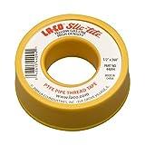 """LA-CO 44094 Slic-Tite PTFE Gas Line Pipe Thread Tape, Premium Grade, [260"""" Length, 1/2"""" Wide], Yellow"""