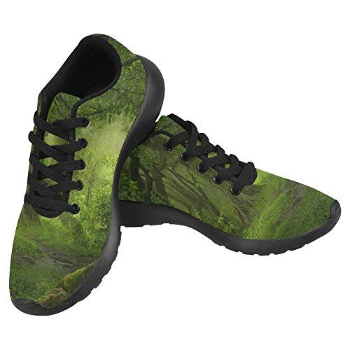 Interestprint Kvinner Jogging Kjører Sneaker Lettvekts Gå Gang Uformell Komfort Joggesko Tropiske Jungelen I Sørøst-asia Grønn Multi 1