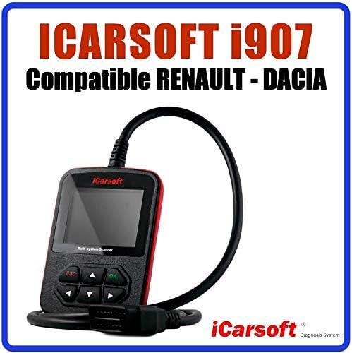 Diagnostic Tous Syst/èmes Interface de Diagnostic iCarsoft i907 Compatible avec v/éhicules Renault et Dacia