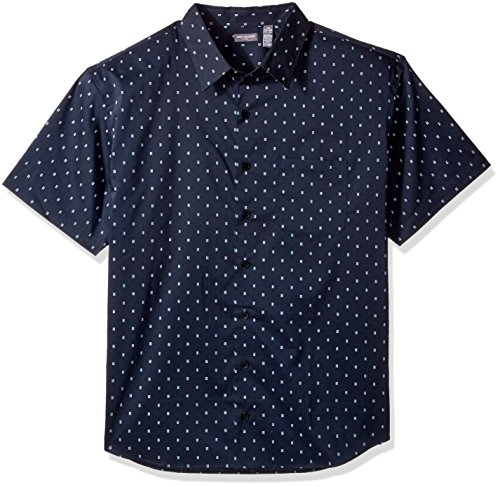 Van Heusen Men's Tall Flex Stretch Short Sleeve Non Iron Shirt, Underground, 4X-Large (Big Tall Mens Clothing)