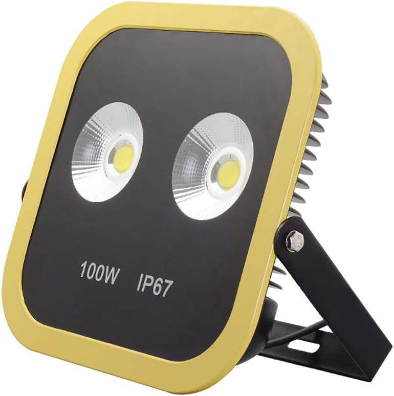 ALFLASH LED Baustrahler Wiederaufladbare Arbeitsleuchte 100W 8000 Lumen Superhell LED Fluter IP66 wasserdicht Flutlichtstrahler f/ür Outdoor-Notfall Auto Reparatur Baustelle Beleuchtung