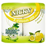 Nicky Maxi Kitchen Towels Lemon - 100 Sheets per Roll (2) - Pack of 2