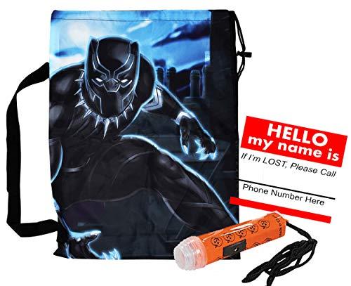 Avengers Black Panther Reusable Drawstring Halloween Trick or Treat Loot Bag!! Plus Bonus