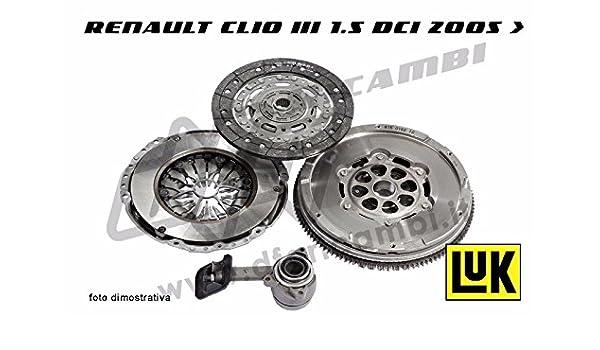 Kit de embrague + volante + cojinete hidráulico Luk KV0085 - 415040010 - 623327509 - 510016410 - 600019700: Amazon.es: Coche y moto