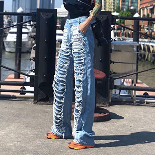 Rxf Donna E Jeans colore Blu Blu Allentato Da Casual Americani Pantaloni L Europei Con Foro Dimensioni FraFSqptwU