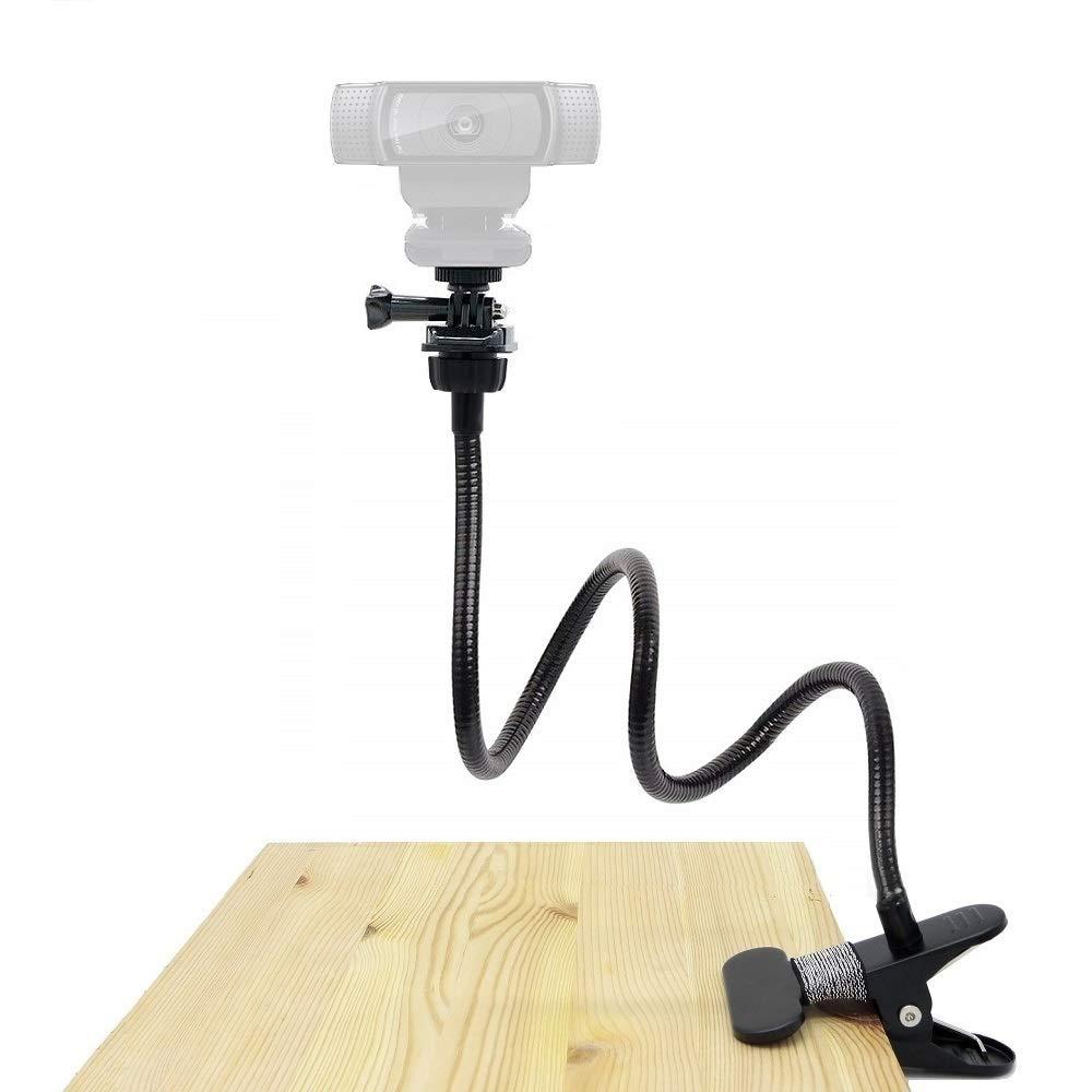 25 Inches Webcam Stand, Gooseneck Webcam Mount, Flexible Desk Clamp Holder for Logitech Webcam C920s,C930e,C930,C920,C922x,C922, Brio 4K, C925e,C615 by AceTaken