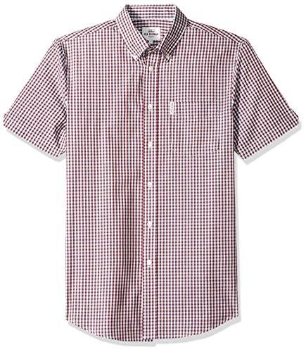 - Ben Sherman Men's SS Classic Gingham Shirt, Sky, XXL