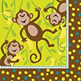 Creative Converting Monkeyin' Around Lunch Napkins, 16 Count, Health Care Stuffs