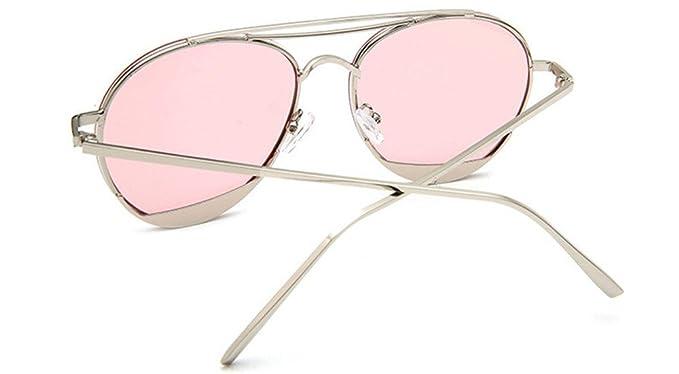HYP Lunettes de polarisées Lunettes de conduite avec monture en métal Incassable 100% anti UV400 Le film de l'océan bleu lunettes lunettes légendes candy frais verres colorés, Rose