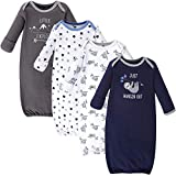 Hudson Baby Unisex Cotton Gowns, Little Explorer, 0-6 Months