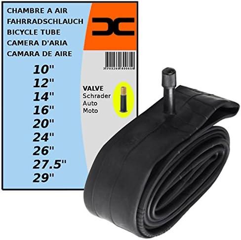 cyclingcolors Chambre /à air v/élo VTT Route Ville Enfant BMX 10 12 14 16 20 24 26 27.5 29 Valve Schrader Type Auto Grosse Valve Standard qualit/é butyle