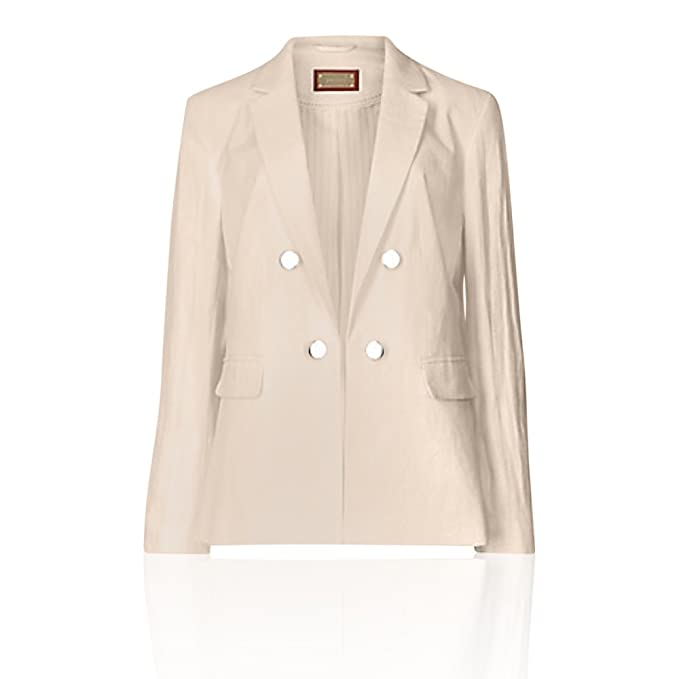 The Outlet London - Chaqueta - Chaquetas - Manga Larga - para Mujer Beige Natural Mix