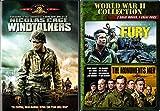 Full Throttle War Collection Fury & Monuments Men + Windtalkers Triple Feature DVD Bundle
