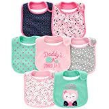 Simple Joys by Carter's Baby Girls' 7-Pack Teething Bib, Pink/Mint, One Size