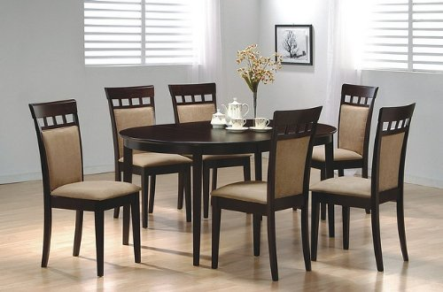7-Piece Dining Set in Rich Cappuccino - Coaster by Coaster Home Furnishings