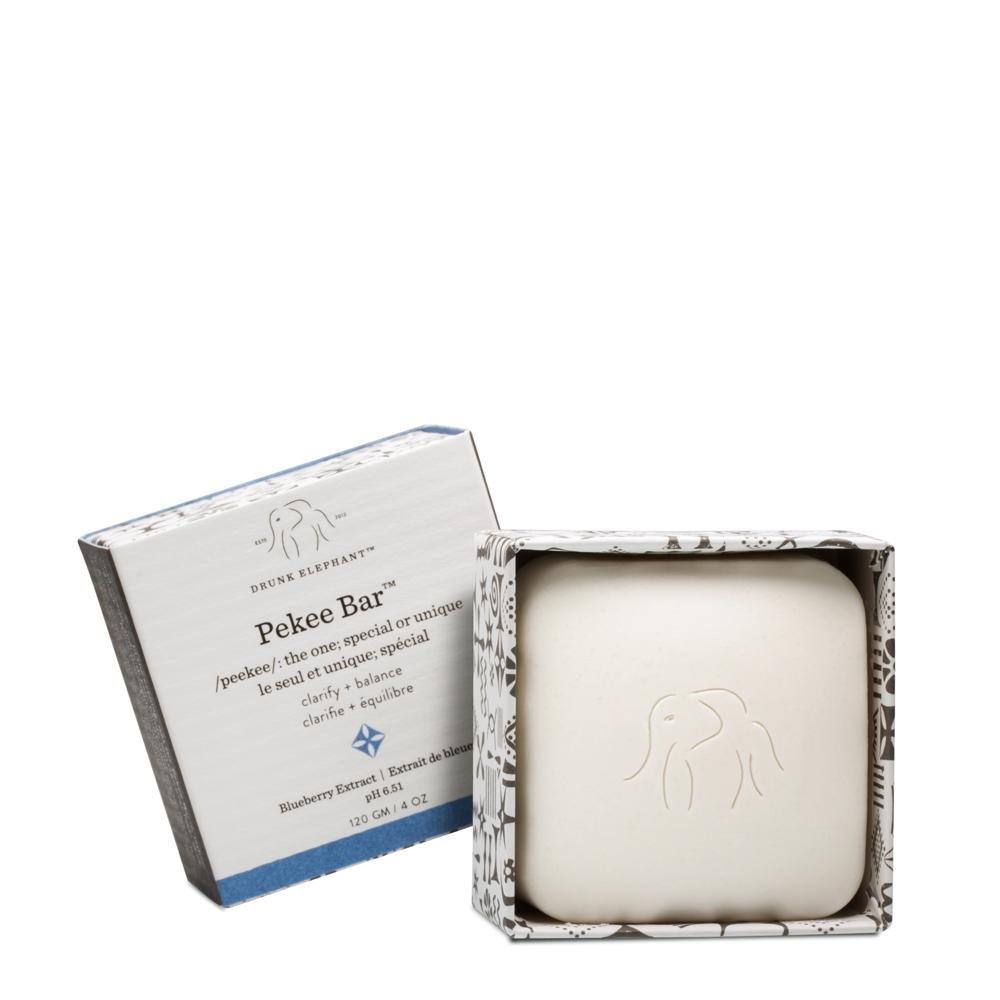 Drunk Elephant Pekee Bar - Multi-Tasking Face Wash, Toner and Moisturizing Bar Cleanser. (4 oz)