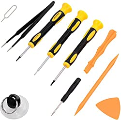 Repair Kit With Tools For Iphone 4, 5, 5s, 5c, 6, 6s, 7, Samsung Galaxy, Note - Magnetic Screwdriver Tool Set For Cell Phones & Mobile Devices - Fix Iphone Screen, Battery With Scanditech Toolkit