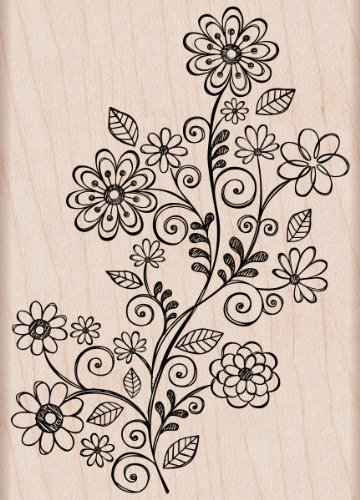 Hero Arts Woodblock Stamp, Swirl Vine