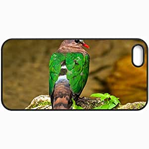 Customized Cellphone Case Back Cover For iPhone 5 5S, Protective Hardshell Case Personalized Bird Black