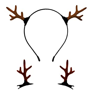 STAG ANTLERS PARTY REINDEER NIGHT DO BLACK ANIMAL ACCESSORIES HEADBAND CHRISTMAS