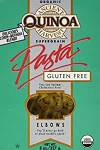 Ancient Harvest Organic Quinoa Pasta, Elbows, 8 Ounce (Pack of 12)