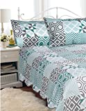 HOTEL 07010 ''Hotel''Quilt Bedspread Set Geo-T Quilted Bedspread Set Geo- Twin