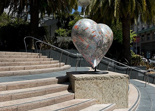 24 x 36 Giclee print ofSculpture Hearts in San Francisco public art installation Union Square San Francisco California r59 2012 by Highsmith, Carol - Square In Union Francisco San