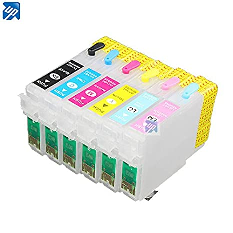 EasyBuy India T0851 Refillable ink cartridge for epson T60 1390 printer with ARC p 85N 851n Inks, Toners   Cartridges