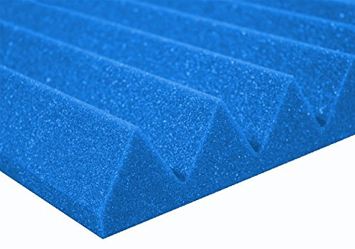 "2"" x 12"" x 12"" Blue Acoustic Studio Wedge Foam 48 Pack by Deluxe Foam"
