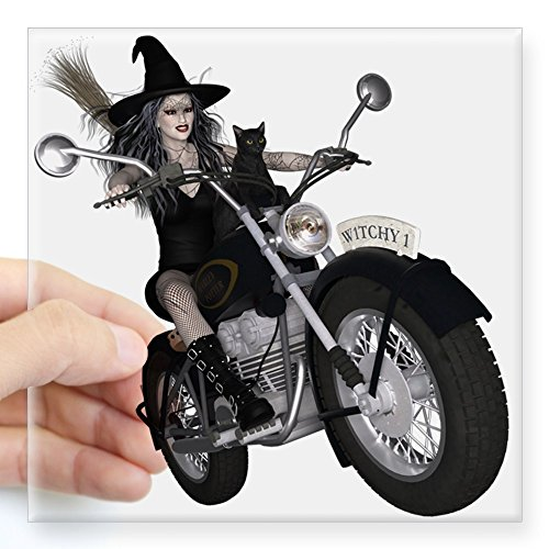 CafePress Witchy One ~ Speedy Sticker Square Bumper