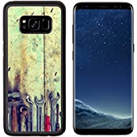 MSD Premium Samsung Galaxy S8 Aluminum Backplate Bumper Snap Case Mechanic tools set on a wooden background IMAGE 34736463