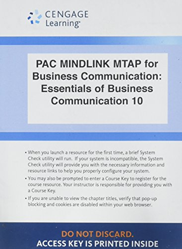 LMS Integrated for MindTap Business Communication, 1 term (6 months) Printed Access Card for Guffey/Loewy's Essentials of Business Communication, 10th
