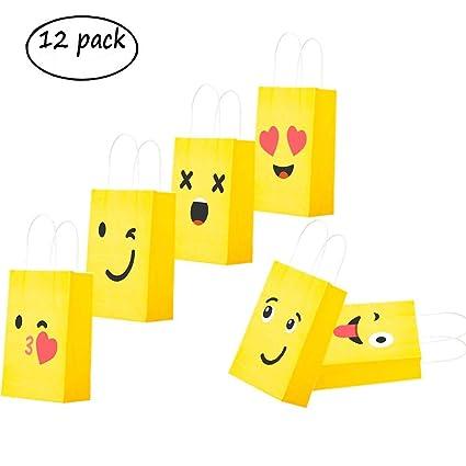 Joy Day Emoji Gift Bags Party DIY Goodie Bag For Kids Birthday