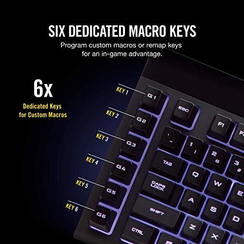 Corsair K55 RGB USB QWERTY Negro - Teclado (Alámbrico, USB, Interruptor de Membrana, QWERTY, LED RGB, Negro): Amazon.es: Informática