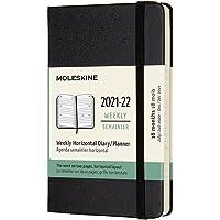 Moleskine - Agenda Horizontal Semanal, Agenda de Bolsillo 2021/2022 de 18 Meses, Agenda Semana Vista con Tapa Dura y…