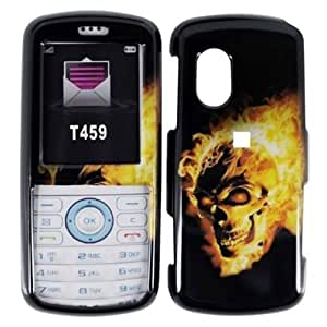 Compatible with Samsung© Gravity T459 Design Cover - Fire Skull